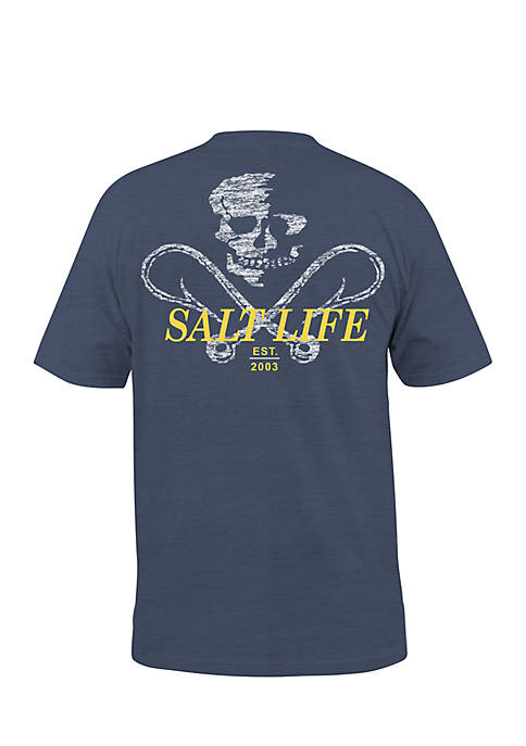 Salt Life Short Sleeve Static Hooks Sunburnt Pocket