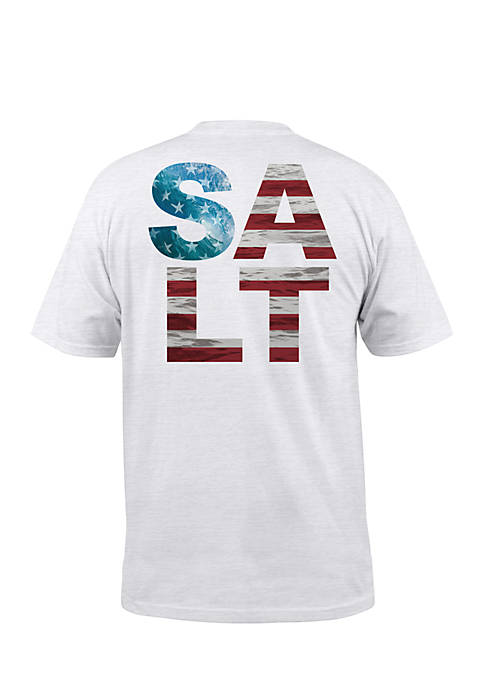 Salt Life Short Sleeve American Salt Sunburnt Pocket