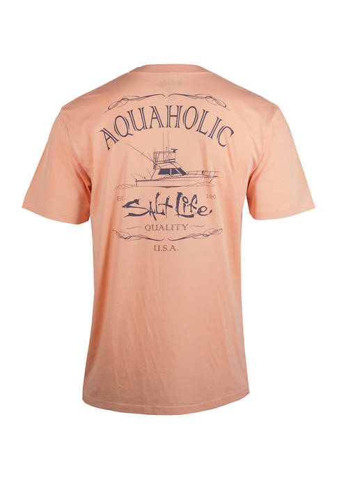 Salt Life Short Sleeve Aquaholic Escape Graphic T-Shirt