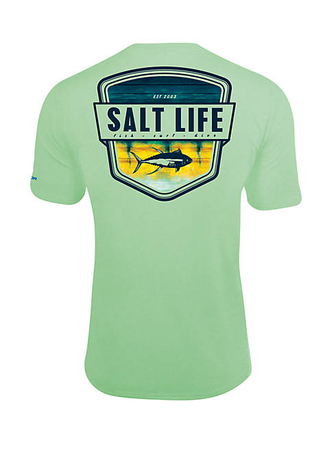 Salt Life Electric Skinz Badge T Shirt