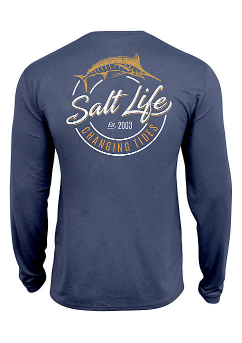 Salt Life Perforated Changing Tides Swim Tee