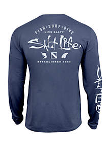 698bf536 ... Salt Life Long Sleeve Watermans Trifecta Perforated Tee