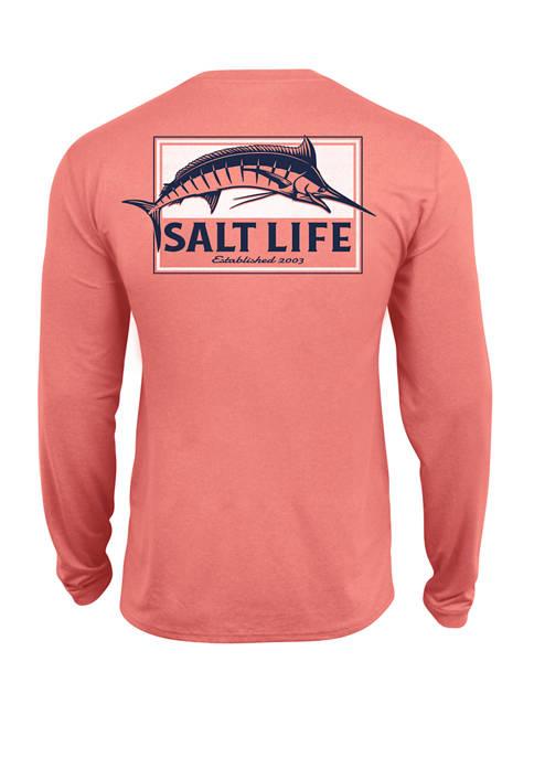 Salt Life Mens Marlin Long Sleeve Graphic T-Shirt