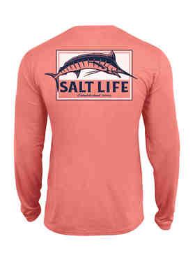 Salt Life Men/'s Mahi Explosion Long Sleeve Pocket Tee