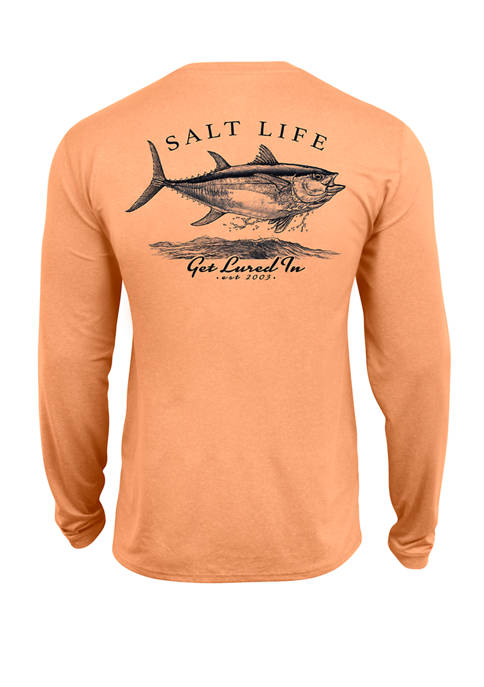 Mens Long Sleeve Get Lured Graphic T-Shirt