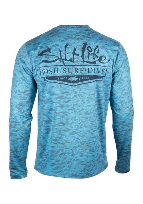 Salt Life Mens Ocean Crest Long Sleeve SLX