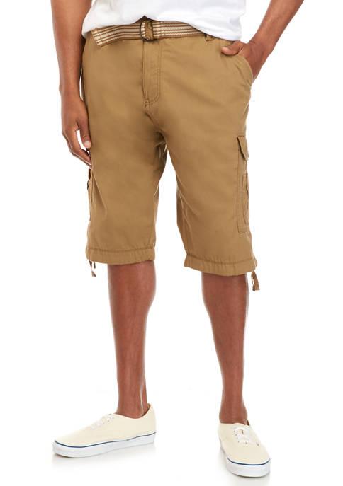 Big & Tall Contraband Belted Microfiber Messenger Shorts
