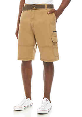 19fe97adeb Plugg™ Big & Tall Western Belted Cargo Shorts ...