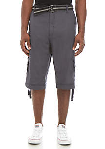 e1001f44a3 ... Plugg™ Big & Tall Malvern Belted Messenger Ripstop Cargo Shorts