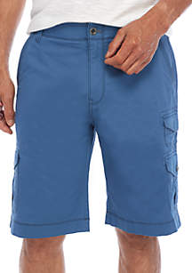 Binary Flex Stretch Twill Cargo Shorts