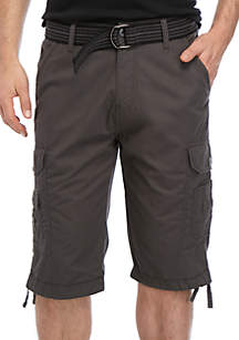 30d4cdafd8 Chaps Stretch Twill Short · Plugg™ Contraband Belted Cargo Shorts