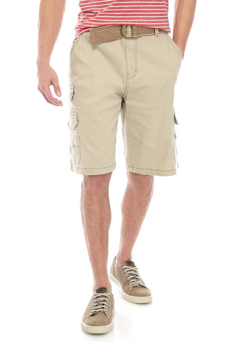 Mens  Bloomfield 11 Inch Twill Cargo Shorts with Belt