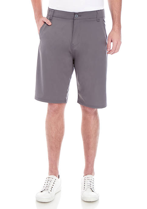 Plugg™ Cleric Flex Flat Front Stretch Microfiber Shorts