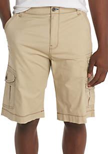 Binary Flex Waistband Stretch Microtwill Multi Pocket Cargo Shorts