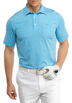 Greg Norman® Collection Short Sleeve Stretch Heather Printed Polo Shirt