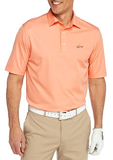 Greg Norman® Collection Short Sleeve Mini Feed Stripe Polo Shirt