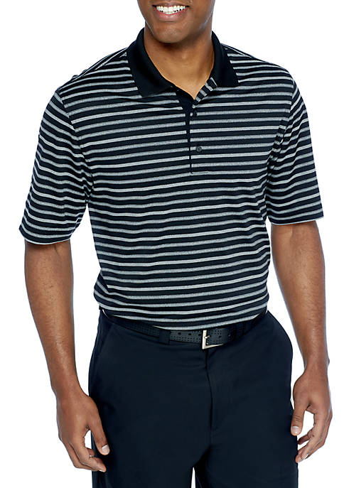 Greg Norman Heather Striped Pique Stretch Polo