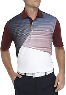 Short Sleeve Color Block Polo