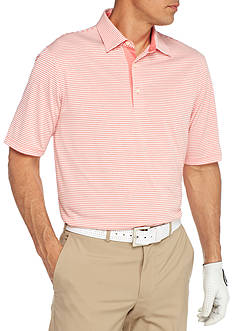 Greg Norman® Collection Short Sleeve Heather Classic Bar Stripe Polo Shirt