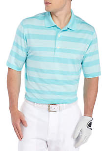 Heather Rugby Stretch Stripe Polo Shirt