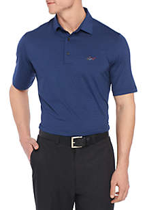 Short Sleeve Classic Fit Stripe Polo