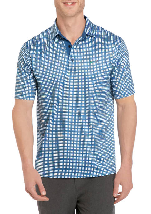 Greg Norman® Collection Chain Link Print Polo Shirt