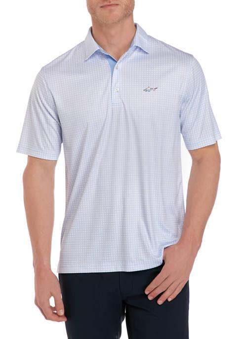 Greg Norman® Collection Chain Link Print Polo Shirt