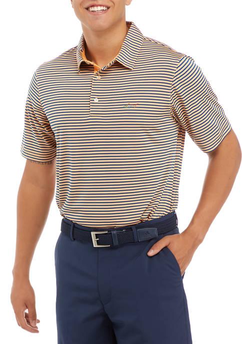 Spread Collar Bar Stripe Polo Shirt