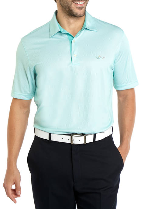 Greg Norman® Collection Mens Foulard Pattern Polo Shirt
