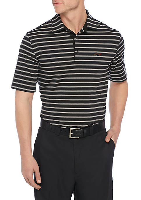 Greg Norman® Collection Spacedye Striped Performance Polo