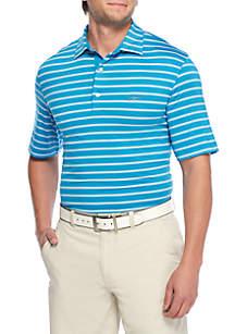 Spacedye Striped Performance Polo