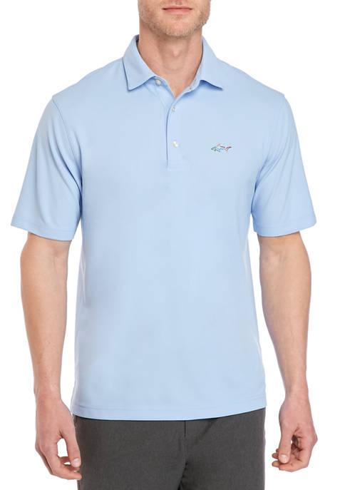 Greg Norman® Collection Spread Collar Pique Polo Shirt