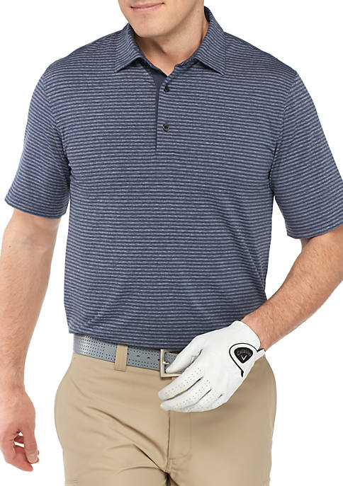 Greg Norman® Collection Short Sleeve Heather Stripe Polo