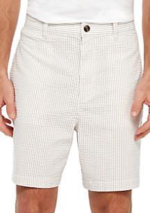 Saddlebred® Flat Front Seersucker Shorts