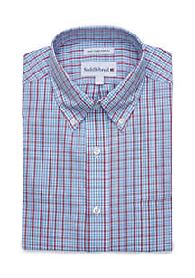 Plaid Poplin Long Sleeve Dress Shirt