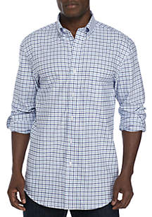 Long Sleeve Oxford Easy Care Plaid Dress Shirt