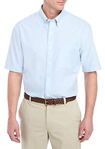 Saddlebred® Short Sleeve Solid Oxford Dress Shirt