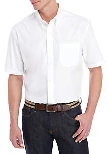 Saddlebred® Short Sleeve Poplin Easy Care Dress Shirt
