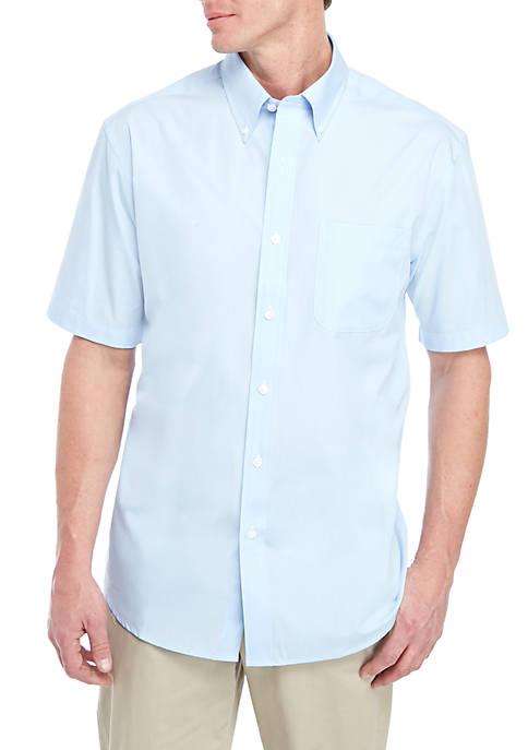 Saddlebred® Short Sleeve Poplin Easy Care Dress Shirt