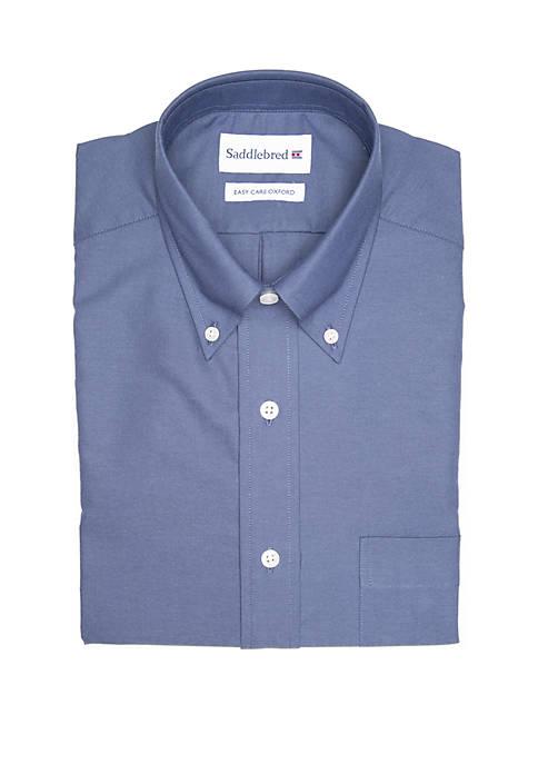 Long Sleeve Solid Oxford Dress Shirt