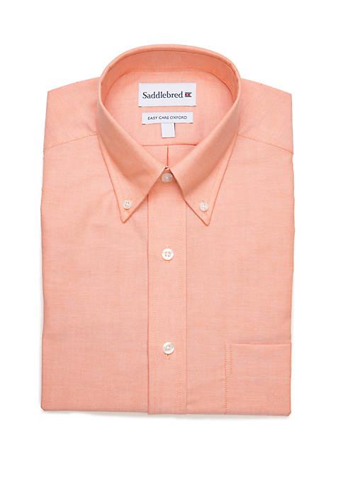 Saddlebred® Long Sleeve Solid Oxford Dress Shirt