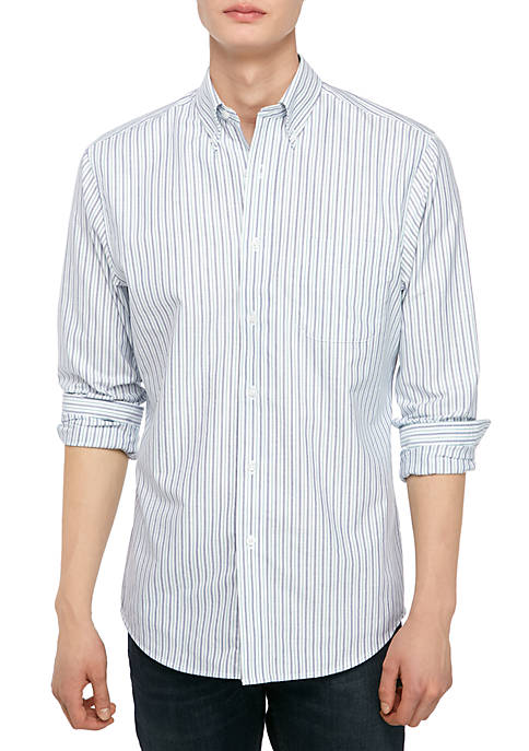 Saddlebred® Long Sleeve Plaid Oxford Dress Shirt