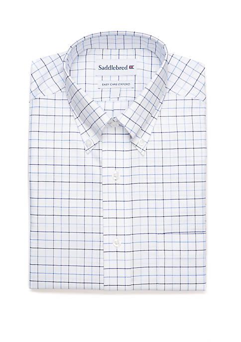 Saddlebred® Regular Fit Oxford Long Sleeve Dress Shirt