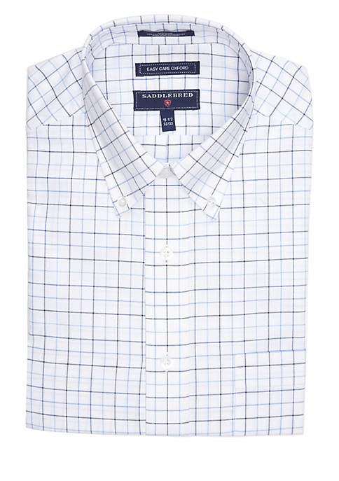 Saddlebred® Regular Fit Oxford Long Sleeve Dress Shirt