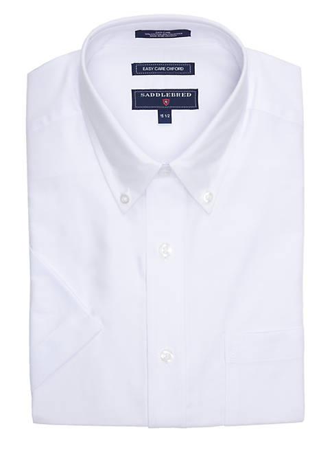 Regular-Fit Oxford Easy Care Short-Sleeve Dress Shirt