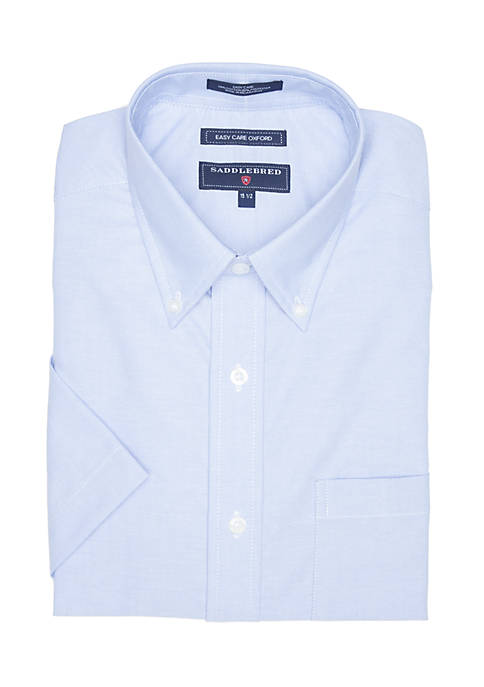 Saddlebred® Classic Fit Short Sleeve Oxford Easy Care