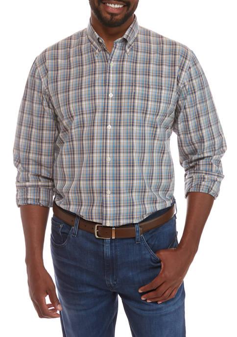 Big & Tall Plaid Button Down Shirt