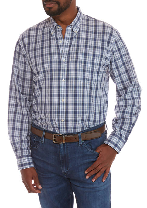 Big & Tall Plaid Button Down Shirt