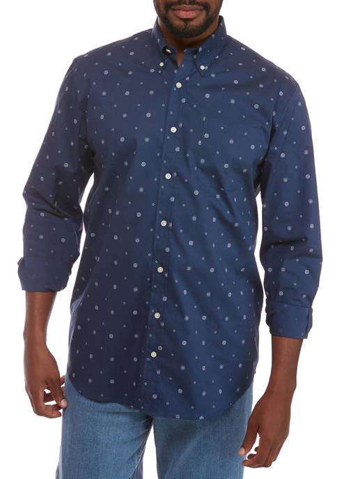 Big & Tall Print Button Down Shirt