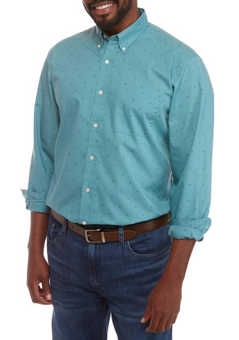 Big & Tall Print Button Down Shirt  $7.00